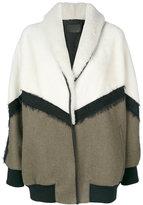 Drome oversized bomber-style coat - women - Lamb Skin/Polyamide/Acetate/Wool - XS