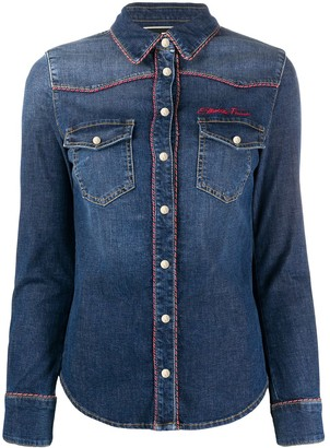 Elisabetta Franchi Piped Denim Shirt
