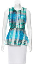 Halston Printed Sleeveless Top