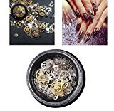 DEESEE(TM) 1 Box Ultra-thin Steam Punk Parts Style Nail Studs 3D Nail Art Decorations Metal Manicure DIY Nail Tips Art