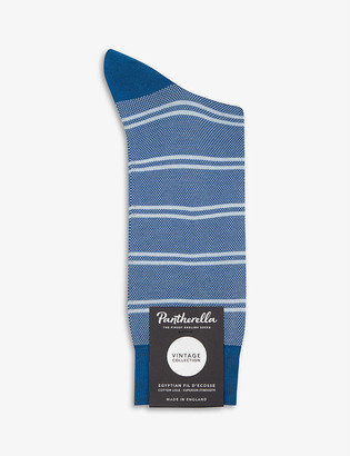 Pantherella Beech birdseye cotton-blend socks