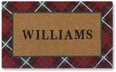 Red Tartan Holiday Doormat