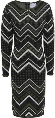 Herve Leger Metallic Jacquard-knit Dress