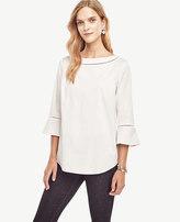 Ann Taylor Lacy Flutter Shirt