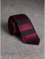 Burberry Slim Cut Striped Silk Wool Tie