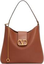 Valentino Garavani V-Sling Leather Hobo Bag