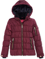 London Fog Puffer Coat with Fleece Lining, Big Girls (7-16)