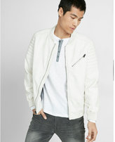Express faux leather bomber jacket