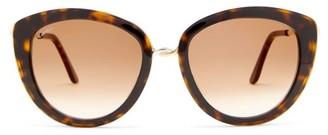 Cartier Trinity Oversized Cat-eye Acetate Sunglasses - Tortoiseshell