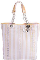 Christian Dior Woven Leather Tote