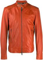 Etro plaited leather jacket