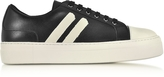 Neil Barrett Black/Off White Leather Skateboard Sneakers