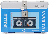 Dolce & Gabbana Blue & Silver Walkman Box Clutch