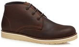 Red Herring Brown Stitch Detail Chukka Boots