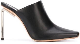 Off-White Metallic-Heel 110mm Square-Toe Mules