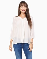 Charming charlie Pleated Chiffon Blouse