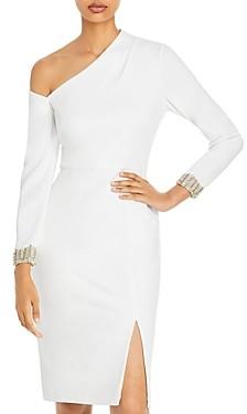 Aidan Mattox Asymmetric Embellished Dress