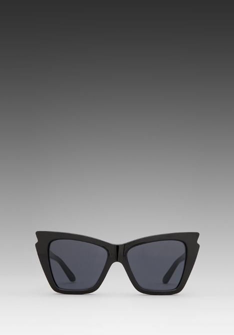 Le Specs Rapture in Black/ Smoke Mono