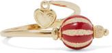 Carolina Bucci Carnevale 18-karat gold and enamel ring