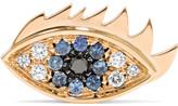 Delfina Delettrez 18-karat Gold, Diamond And Sapphire Earring - one size