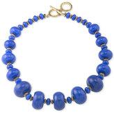 Lauren Ralph Lauren Gold-Tone Blue Bead Collar Necklace