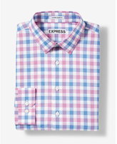 Express extra slim fit plaid cotton dress shirt