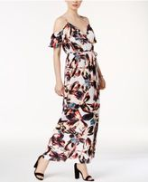 Bar III Printed Cold-Shoulder Maxi Dress, Only at Macy's