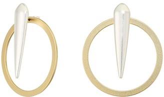 Lucky Brand Spike Stud and Hoop Earrings (Two-Tone) Earring