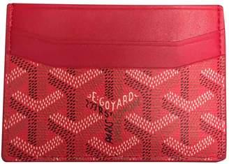 Goyard Saint Sulpice Red Cloth Purses, wallets & cases