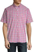 Tailorbyrd Men's Baku Plaid Short-Sleeve Cotton Button-Down Shirt