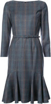 Carolina Herrera plaid flared dress