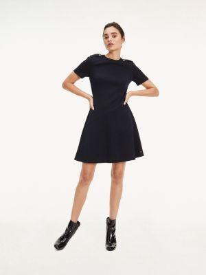 Tommy Hilfiger Epaulette Jersey Utility Dress