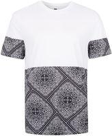 Topman Topman White Bandana Print T-shirt
