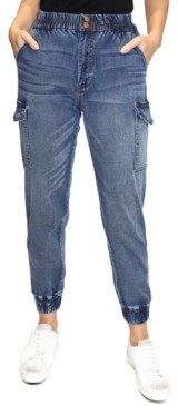 Thumbnail for your product : Almost Famous Crave Fame Juniors' Cargo Jogger Jeans