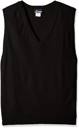 Classroom Uniforms Classroom School Uniforms Men's Big and Tall Plus Size Adult Unisex V-Neck Sweater Vest