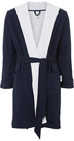 Hamilton And Hare Cotton Towelling Boxing Robe, Navy