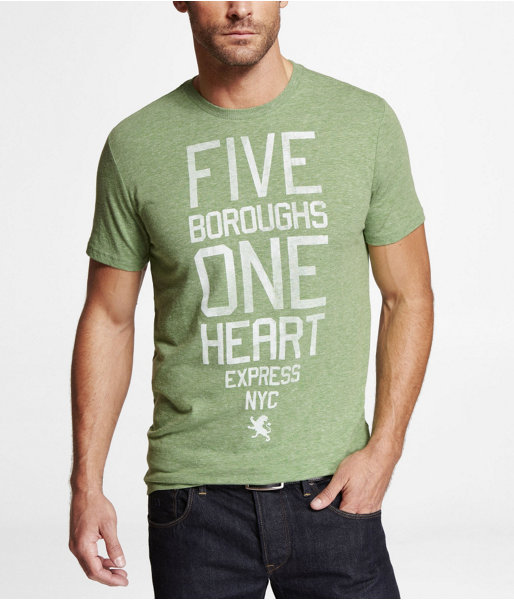 Express Tri-Blend Graphic Tee - Five Boroughs