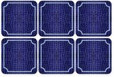 Pimpernel Leather Square Coasters in Blue Croc (Set of 6)