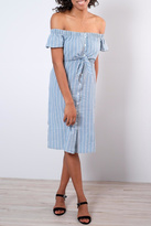 Everly Pinstripe Shirt Dress