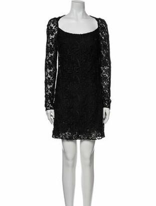 Dolce & Gabbana Scoop Neck Mini Dress Black