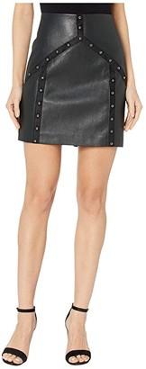 BCBGMAXAZRIA Faux Leather Mini Skirt (Black) Women's Skirt