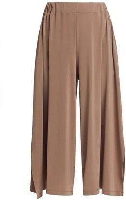 Issey Miyake Drape Jersey Cropped Pants