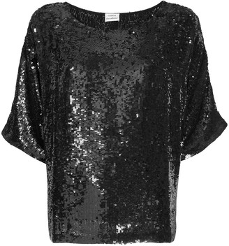 P.A.R.O.S.H. oversized sequin-embellished T-shirt