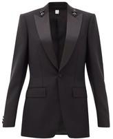 Burberry Crystal-applique Mohair-blend Jacket - Womens - Black