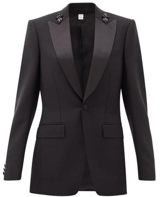 Burberry Crystal-applique Mohair-blend Jacket - Black