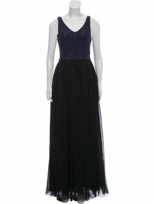 Brunello Cucinelli Cashmere Mesh Gown w/ Tags black