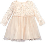 Bonnie Baby Floral-Appliquandeacute; Cardigan and Ballerina Dress, Baby Girls (0-24 months)