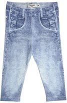 Junior Gaultier Jeans Print Cotton Jersey Leggings