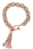 G by Guess GByGUESS Women's Rose Gold-Tone Tassel Toggle Bracelet