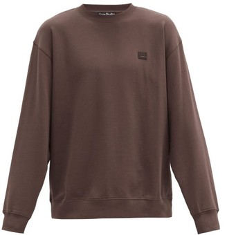 Acne Studios Forba Face Oversized Cotton-jersey Sweatshirt - Brown